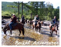 Horse riding tours at Lake Baikal