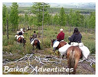 Horse riding travel at Baikal  lake
